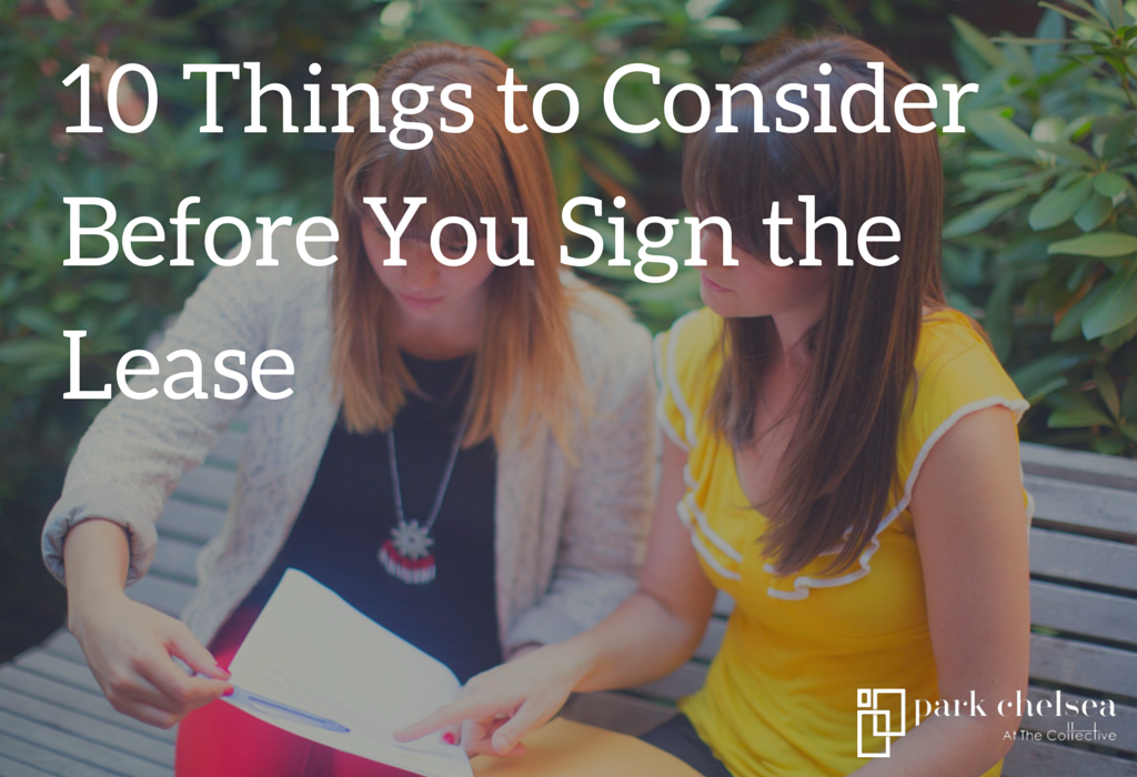 10 things to consider before you sign the lease at your new apartment